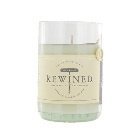 Rose Blanc rewined wine bottle candle